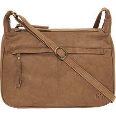 Tan Dual Pocket Leather Handbag