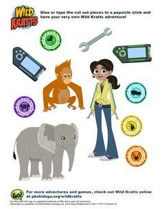 Wild Kratts Discs | Wild Kratts . Printables . PBS KIDS Programs | PBS Parents
