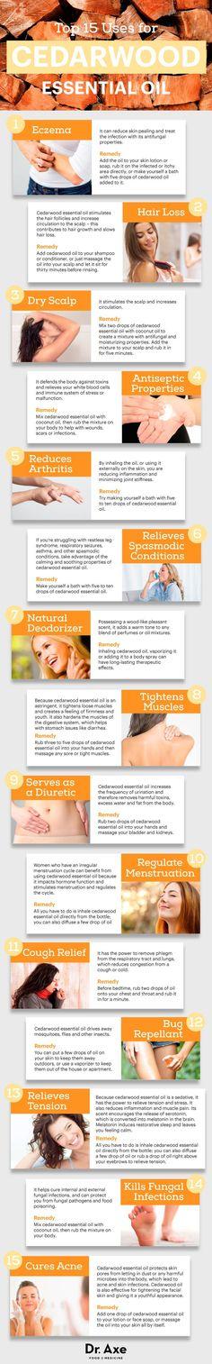 Cedarwood oil benefits
