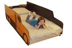 BAHAHAHAHAHAHA!!! this is sooo hilarious!! Dump truck twin kids bed frame