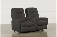 Jaden Fabric Power Rocker Reclining Loveseat W/Console - Main