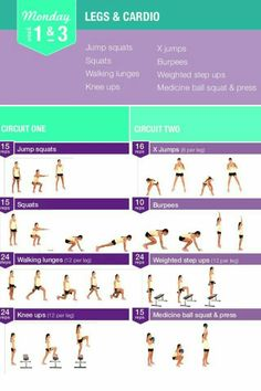Legs and Cardio Workout | Posted By: CustomWeightLossProgram.com