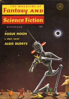 The Magazine of Fantasy and Science Fiction, December 1960. Cover by Mel Hunter.