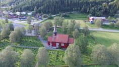Vuku kirke, Verdal Norway 10 juli 2017.Many of my ancestors were baptised, confirmed, married and buried here.