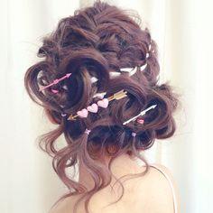 奥村 祐亮さんのヘアカタログ   ヘアアレンジ,簡単アレンジ   2016.08.24 18.21 - HAIR Kawaii Hairstyles, 90s Hairstyles, Hair Arrange, Asian Hair, Hair Ornaments, Hair Trends, Hair Goals, Hair Pins, Hair Inspiration