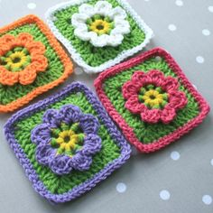 Floral Granny Square | by Wool n Hook