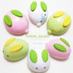 - [Coming soon•October] ❄️Snow Rabbit USD$10.5 HKD$85 White/Pink/Green •Milk scented Super squishy!!! #hksquishy#squishyhk #lunatabby_新貨預告