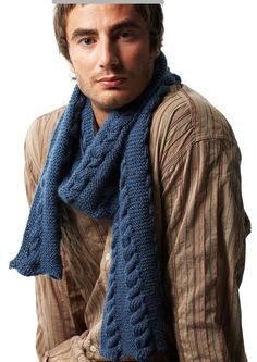 K006 Cable Scarf Digital Download