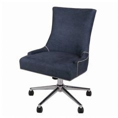Gracie Oaks Minisink Denim Office High-Back Desk Chair Color: Denim Slate Bankers Chair, Conference Chairs, Furniture Direct, Furniture Outlet, Online Furniture, Bar Chairs, Office Chairs, Ikea Chairs, Room Chairs