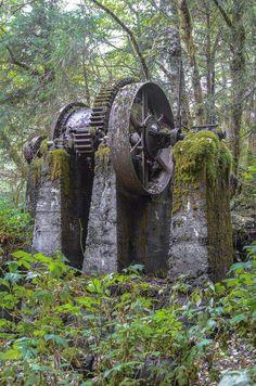 Abandoned mining gear