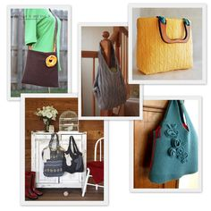 Eco Sewing Round-Up: 10 Upcycled Sweater Bags to Sew