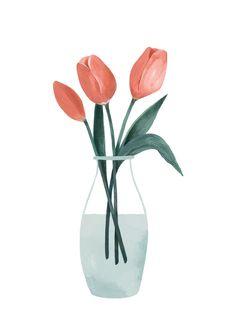 Lámina Tulipanes1 tamaño: A4 (21x29,7cm) impresión digital sobre papel de 200gr mate.