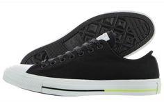 82d55b99bc1729 Converse Unisex Chuck Taylor All Star Low Top Black White Volt Sneakers - 5  D(M)