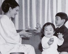 Miss Honoria Glossop: Crown Princess (now Empress) Michiko with Princess Sayako and (now Crown) Prince Naruhito