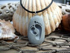 Just like they stepped into sand ~ Lovely Footprints of a Grown-up & Child! Great gift for a Parent, Grandparent, new mother, aunt, uncle or big brother or sister! Footprints showing their love together forever!   This design is deeply engraved (without paint) into a handpicked New England Beach stone. The stones come from local beaches here in New England! From Bar Harbor ME, Marthas Vineyard, Cape Cod or any of the the best beaches in Massachusetts, Maine, New Hampshire, Vermont, Rhode ...