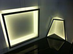 Lamps in geometric forms Geometric Form, Lamps, Wall Lights, Lighting, Home Decor, Geometric Fashion, Lightbulbs, Appliques, Light Fixtures