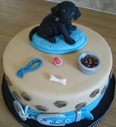 Labrador puppy cake - via @Craftsy, be cuter with a JRT ;p