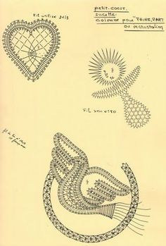 Filet Crochet, Irish Crochet, Bruges Lace, Bobbin Lacemaking, Bobbin Lace Patterns, Point Lace, Needle Lace, Lace Making, Fauna