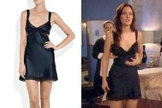 Blair Waldorf wears Clara Whispering Silk Cutout Chemise from the Stella McCartney collection.