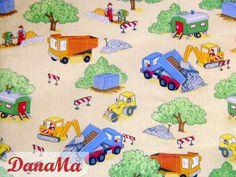 Kinderstoff ~ Baustelle von DanaMa ~ Stoffe & Co auf DaWanda.com