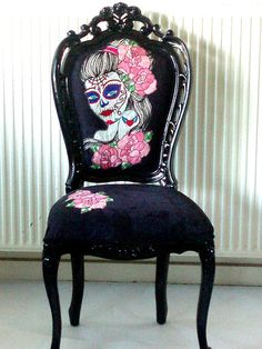 Vintage Style Chair in Gloss Black with Hand by milkaLOOM on Etsy, $740.00/ I want this!