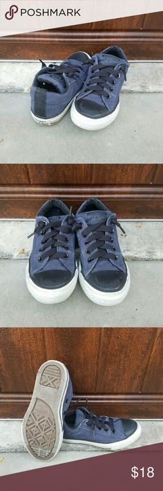 Boys Converse Shoes These black & navy blue Converse were only worn a handful of times. They are in great condition & still have a lot of playtime left in them. Converse Shoes Sneakers