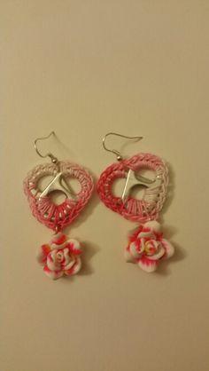 Soda Tab heart earrings