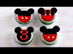 Mickey Mouse Cupcake and Cake Toppers | HappyFoods - YouTube