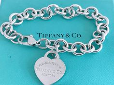 Return To Tiffany Necklace, Tiffany And Co Jewelry, Tiffany And Co Bracelet, Fashion Bracelets, Link Bracelets, 925 Silver, Sterling Silver, Silver Jewelry, Designer Jewellery