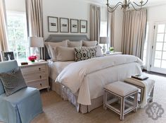 Love This Sitting Area In A Master Bedroom  Sita Montgomery Classy Interior Bedroom Design Furniture Inspiration