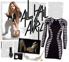 """""""Avril Lavigne's style - photoshoot for """"Maxim"""" magazine (2010)"""" by jessicafrodness ❤ liked on Polyvore"""