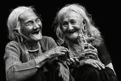 Porque la risa si es sincera se contagia...  - Fotografías en blanco y negro -