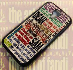 supernatural_Quotesi For Samsung Galaxy S4 Black Rubber Case   TheArtOffandi - Accessories on ArtFire
