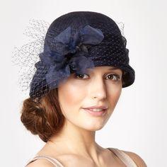 Stephen Jones Designer Navy Dahlia Cloche Hat- at Debenhams.com