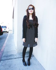 Tea Without the Tea - Little Town // Mossimo cardigan, Merona dress, Payless shoes