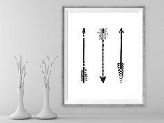 3 arrows tribal art printable art arrow by BloomWhereverYouAre