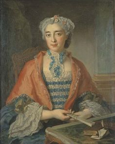 Portrait of a woman, mid 18th century, attributed to FRANCOIS EISEN (1695-1778)