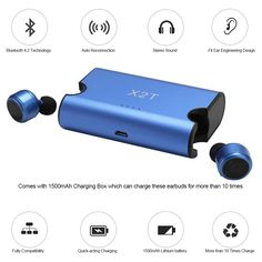 iPhone Android Wireless Earbuds Bluetooth X2T 4.2