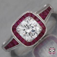ruby diamond ring art deco