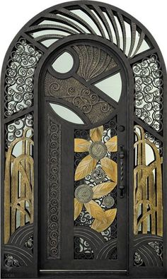 ideas for metal door design art nouveau Cool Doors, Unique Doors, Architecture Art Nouveau, Architecture Details, Art Deco Door, Entrance Doors, Doorway, Front Doors, Grand Entrance