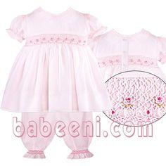 Baby dresses smocked-pajamas