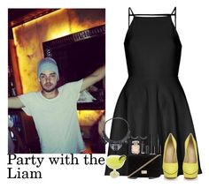 """Party with Liam"" by stellasmathio ❤ liked on Polyvore featuring Oh My Love, Charlotte Olympia, Forever 21, Marc Jacobs, Chanel, Elie Saab and Monki"