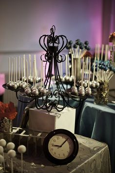 Chandelier Cake Pops Display by Sweet Lauren Cakes, via Flickr