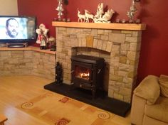 Nestor Martin stove  stone fireplace Decor, Stone Fireplace, Stove, Stanley Stove, House, Home Decor, Fireplace