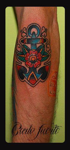 old school tattoo #neo traditional tattoo #anchor tattoo