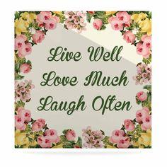 Kess InHouse NL Designs Live Love Laugh King Featherweight Sham
