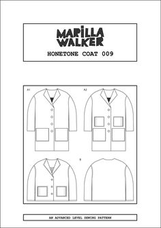 Log in to your Etsy account. Coat Pattern Sewing, Coat Patterns, Sewing Patterns, Hair Canvas, High Contrast, Fashion Sewing, Lining Fabric, Pocket Detail, Pattern Paper