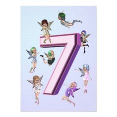 "Flower fairies 7th Birthday Party invitation 5"" X 7"" Invitation Card A group of cute little flower fairies crowd around to make a lovely birthday party invitation #7th #7 #birthday #party #7th #birthday #party #birthday #party #invitation #elf #fairy #fairies #fantasy #magical #flower #flutter #flying #cute #whimsy #adorable #angel #art #beautiful #blossom #bright #cartoon #creature #dreams #dress #girl #imagination #little #nymph #pink #create #your #own #invitations #birthday #card…"