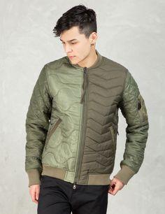 maharishi Olive Tripadded Reversible Ma Jacket