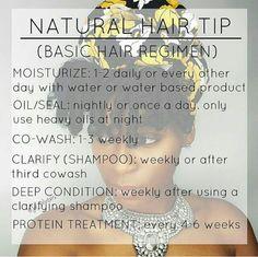 Natural Hair Tip: Basic Hair Regimen